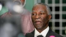 L'ex-président sud-africain Thabo Mbeki, le 25 octobre 2010. AFP/Ashraf Shazly