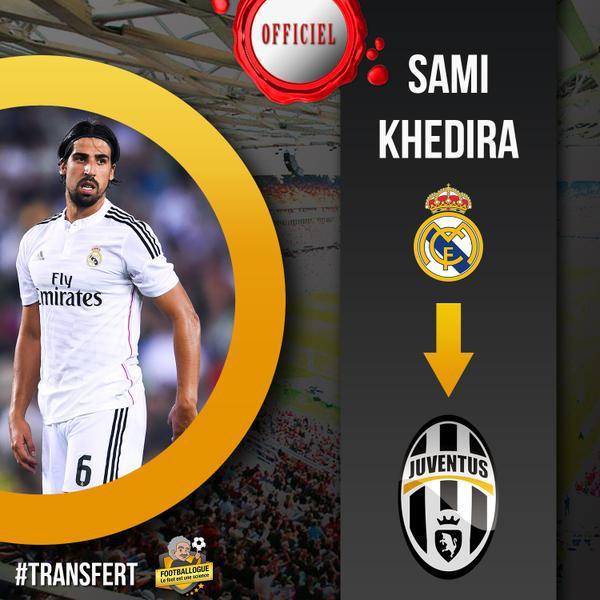 Officiel : Khedira file à la Juve
