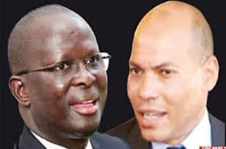 Rebeuss: Modou Diagne Fada et Karim Wade en train de discuter