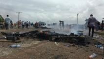 Colère dans un bidonville à Accra