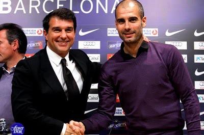 Barça : Guardiola « Une grande affection pour Laporta »
