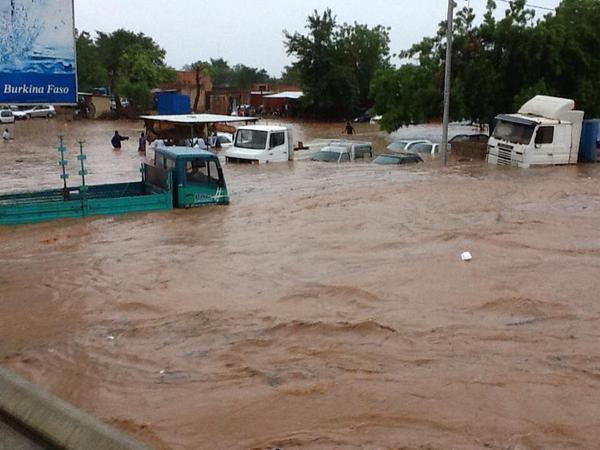 Premières grosses pluies à Ouagadougou et déjà des dégâts