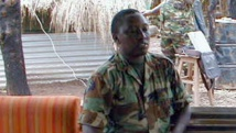 Le chef des services de renseignement rwandais Emmnuel Karenzi Karake en 2001. AFP PHOTO/MONUC
