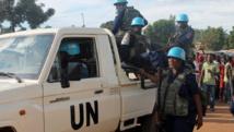 L'ONU assure appliquer une politique de tolérance zéro envers les abus sexuels commis par ses casques bleus. Photo : casques bleus à Bangui. AFP PHOTO / STRINGER