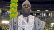 Zéphirin Diabré, ce samedi 27 juin à Ouagadougou, lors de son invectiture comme candidat de l'UPC à l'élection présidentielle du 11 octobre 2015 au Burkina Faso. RFI / Yaya Boudani