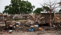 Photo prise le 10 juin 2015 de restes de magasins de la ville de Melut, au Soudan du Sud. Ils ont été détruits lors de récents combats. AFP PHOTO/WORLD VISION/A.HAMER