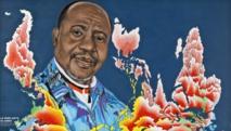 Chéri Samba, «La vraie carte du monde», 2011 Acrylique et paillettes sur toile, 200 x 300 cm Collection Fondation Cartier pour l'art contemporain, Paris. © Florian Kleinefenn © Chéri Samba