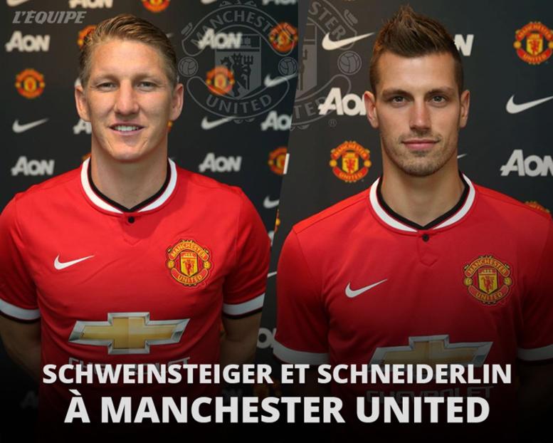 OFFICIEL : Bastian Schweinsteiger et Morgan Schneiderlin rejoignent Manchester United