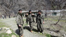 Des combattants du PKK, dans les montagnes de Quandil, en Irak, à proximité de la frontière avec la Turquie. REUTERS/Azad Lashkari