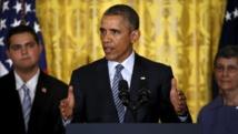 Le président américain pendant la présentation de son plan climat, à la Maison Blanche. Washington, le 3 août 2015. REUTERS/Jonathan Ernst