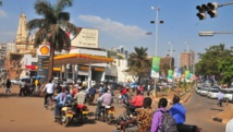 Dans une rue de Kampala, capitale de l'Ouganda. RFI/Gloria Nakiyimba