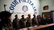La Cour militaire de Kinshasa à l'ouverture du procès des huit policiers soupçonnés du meurtre de Floribert Chebeya, le 12 novembre 2010. AFP/GWENN DUBOURTHOUMIEU