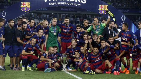 Supercoupe d'Europe : vainqueur de Seville au bout du suspense, le Barça égale le Milan AC