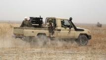 Soldats tchadiens déployés dans le cadre de la force militaire mixte contre Boko Haram, au Nigeria, en février 2015. REUTERS/Emmanuel Braun