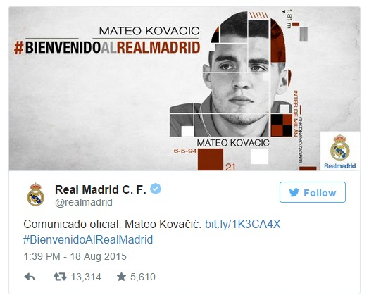 Officiel : Mateo Kovacic signe 6 ans au Real de Madrid