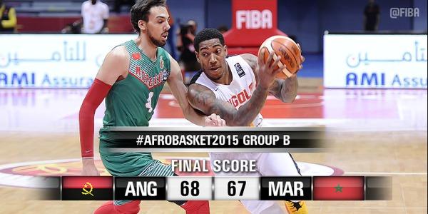 Afrobasket 2015 : L'Angola s'impose sur le fil devant le Maroc (68-67)