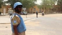 Selon les groupes armés pro-gouvernementaux, s'ils doivent quitter Anéfis, c'est pour laisser la localité aux mains des casques bleus de l'ONU et de l'armée malienne. AFP PHOTO/SEBASTIEN RIEUSSEC