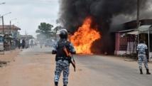 Des heurts ont éclaté jeudi 10 septembre en marge de manifestations contre la candidature du président Alassane Ouattara à sa réélection, faisant un mort et plusieurs blessés. AFP PHOTO / ISSOUF SANOGO