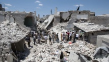 Le quartier résidentiel de Maadi, à Alep, en juin 2015. AFP PHOTO / KARAM AL-MASRI