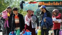 Des migrants bloqués à la frontière hongroise