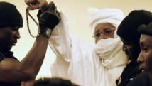 L'ancien président tchadien, Hissène Habré, au premier jour de son procès, le 20 juillet dernier. AFP PHOTO / SEYLLOU
