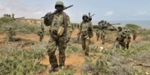 Des soldats de l'Amisom, en Somailie, le 5 octobre 2014 © Tobin Jones/AP/SIPA