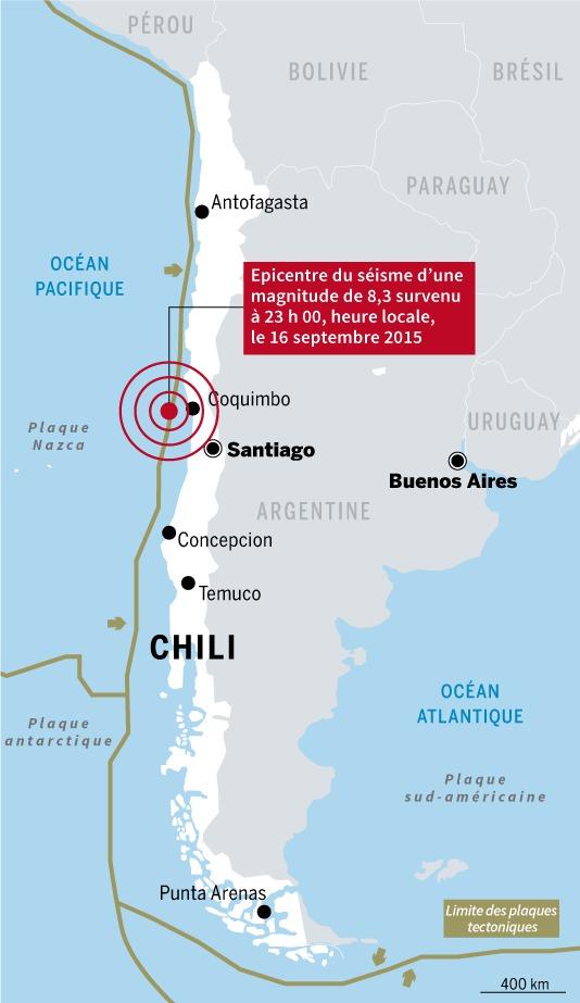Au Chili, très fort séisme, risque de tsunami et évacuation massive