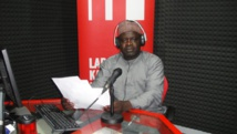 Nasiruddeen Muhammed dans le studio de RFI hausa à Lagos. RFI/Robert Minangoy