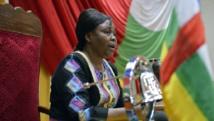 La vice-présidente du Conseil national de transition Léa Koyassoum Doumta a été brièvement enlevée par des anti-balaka dimanche. AFP PHOTO / ERIC FEFERBERG