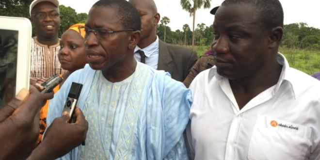 Mamina Camara, président du Conseil départemental de Bignona (au micro)