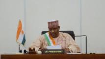 Hama Amadou, à l'époque où il était président du Parlement du Niger, le 6 novembre 2013 à Niamey. AFP PHOTO / ISSOUF SANOGO