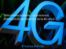 Télécommunications : Le processus d'attribution des licences de la 4G lancé.
