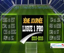 Ligue 1: résultats de la 3ème journée