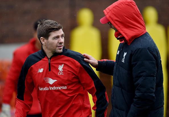 Steven Gerrard (Los Angeles Galaxy) est revenu à Liverpool et s'est entraîné
