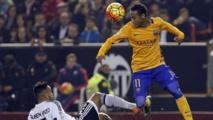 Neymar a montré un visage saignant sur la pelouse de Mestalla