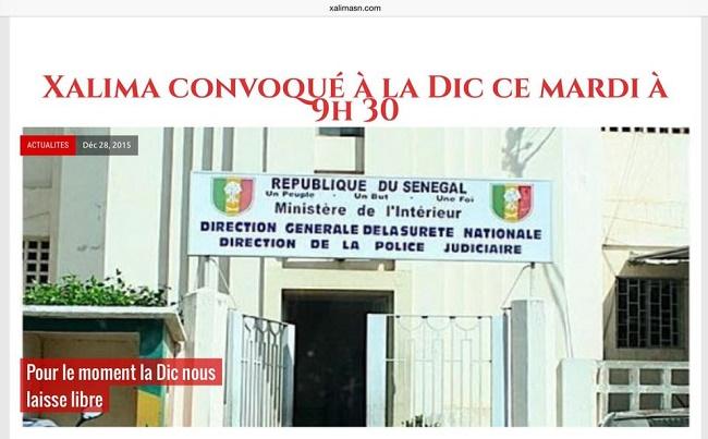 Libre, Samba Camara de Xalima reste à la disposition de la DIC
