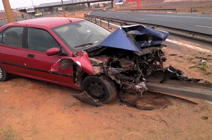 Accident sur l'autoroute : Images