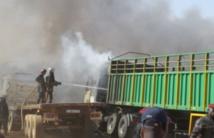 """Ouagadougou: """"Un blessé et quatre véhicules incendiés"""" après l'explosion d'une bouteille de gaz"""