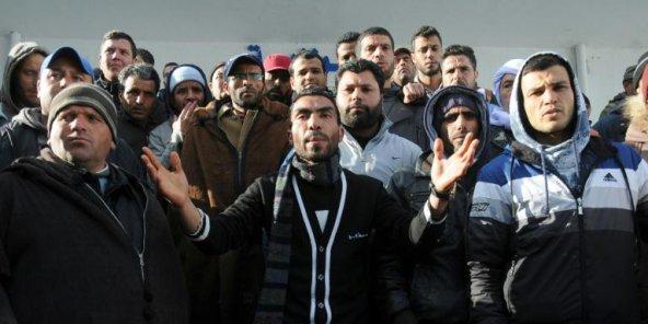 Manifestation à Kasserine, le 22 janvier 2016. © Mohamed Khalil/AFP