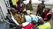 Un soldat kényan évacué récemment de la Somalie, où il a été blessé dans une attaque du groupe djihadiste Al-Shabaab.