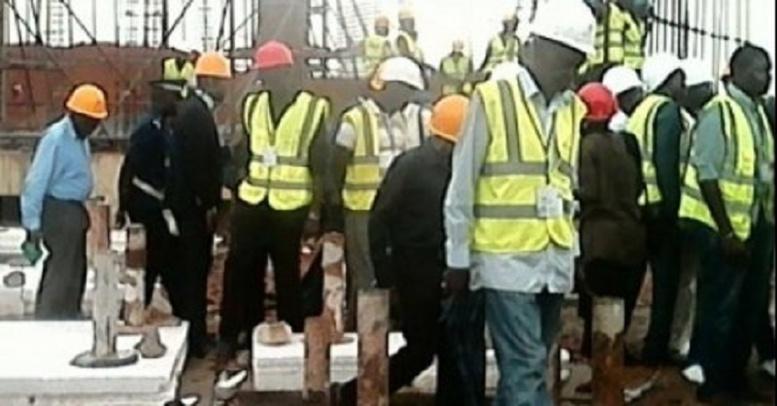 Chantier du parc industriel de Diamniadio: l'affaissement d'un échafaudage fait une dizaine de blessés