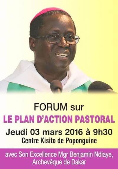 Forum sur le Plan d'Action Pastoral (PAP) diocésain, le jeudi 03 mars à Poponguine