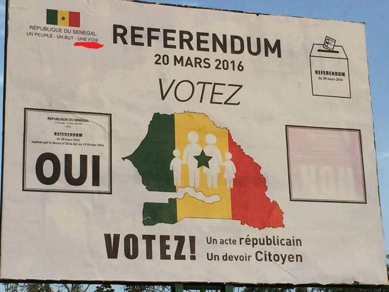 """Référendum - """"Un Peuple, Un But, Une Foie"""": l'affiche de la discorde"""