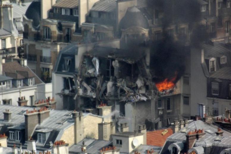 Paris-Explosion due au gaz dans un immeuble, 17 blessés, dont un grave