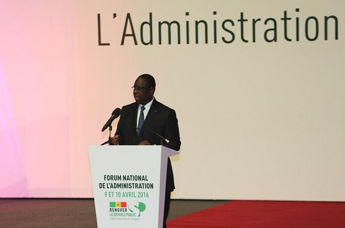Macky Sall : «L'administration est tenue de s'adapter aux exigences citoyennes».