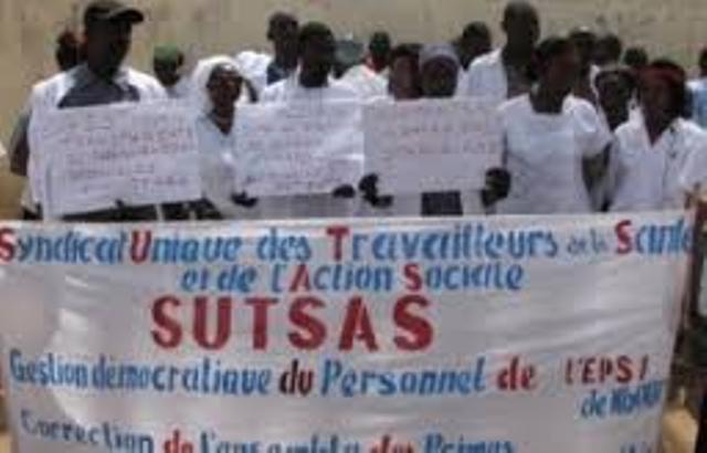 Tambacounda : les infirmiers affiliés au Sutsas menacent de paralyser le secteur de la santé