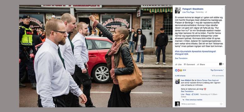 Son poing levé face à des néo-nazis devient le symbole de l'antiracisme en Suède