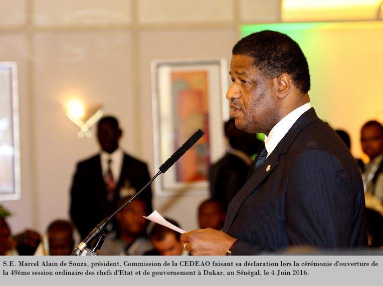 Commission de la CEDEAO : De Souza lance le Djihad contre le terrorisme