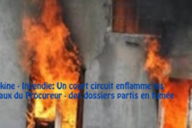 Pikine - Incendie: Un court circuit enflamme les bureaux du Procureur - des dossiers partis en fumée