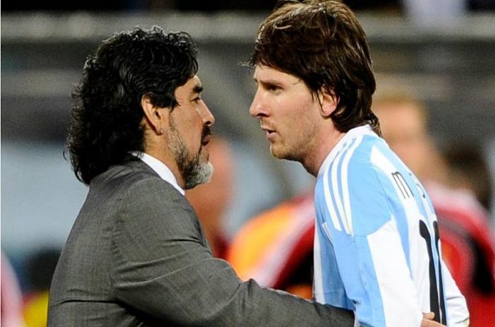 Pour Maradona, Messi est la victime